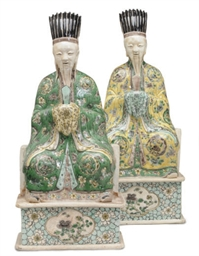 A PAIR OF FAMILLE VERT PORCELA
