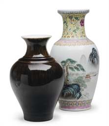 THREE CHINESE PORCELAIN BALUST