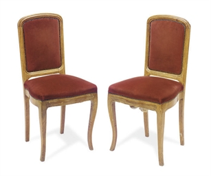 A SET OF FOUR OAK SIDE CHAIRS,