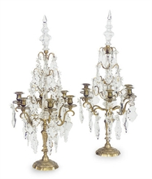 A PAIR OF FRENCH ORMOLU AND CU
