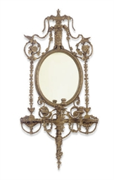 A GILTWOOD THREE-LIGHT GIRANDO