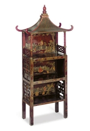 A POLYCHROME-LACQUER PAGODA-FO