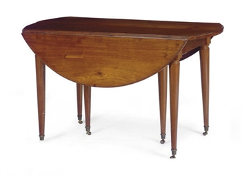 A LOUIS XVI MAHOGANY EXTENDING