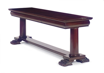A MAHOGANY REFECTORY TABLE,