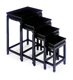 A SET OF BLACK LACQUERED NESTI