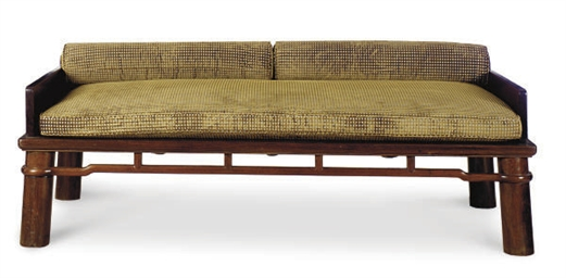 A JAPANESE HARDWOOD DAYBED,