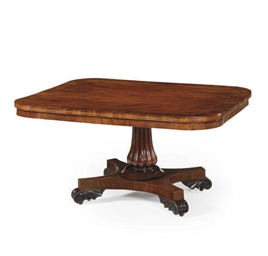 A WILLIAM IV MAHOGANY AND ROSE