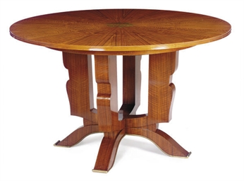 A FRENCH ART DECO ROSEWOOD AND