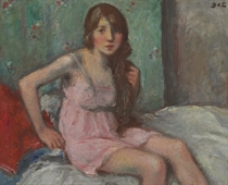Jeune fille assise