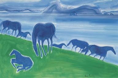 Les chevaux bleus