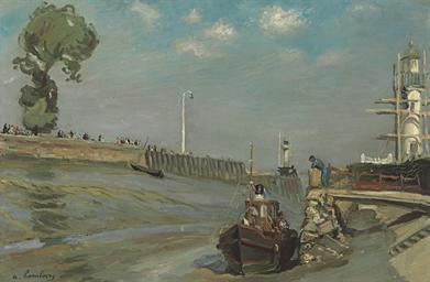 Le port, les phares à marée ba