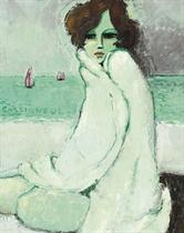 Femme au peignoir blanc