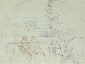 Figures dans un paysage