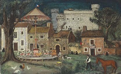 Village avec carrousel