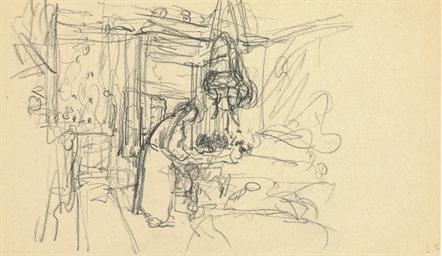 Madame Vuillard aux Myosotis