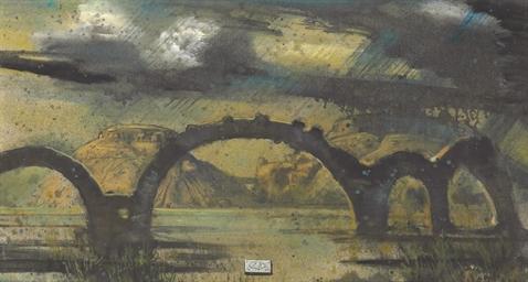 The Broken Bridge in a Storm
