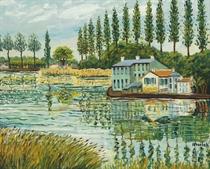 L'étang à Balencourt
