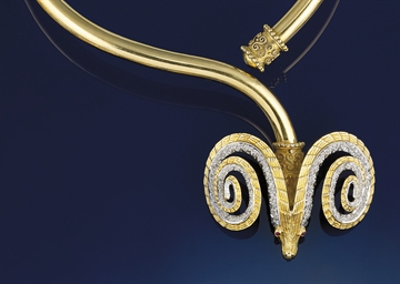 A diamond torc necklace