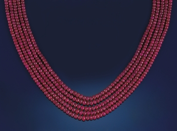 A ruby necklace