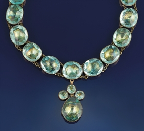 An 18th century paste necklace