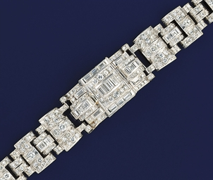 An Art deco diamond bracelet
