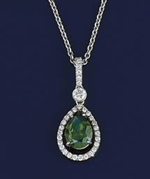 A demantoid garnet and diamond