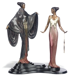 AN ART DECO STYLE BRONZE GROUP