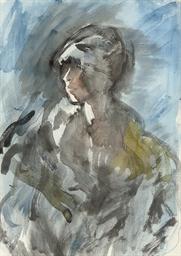 Portrait of a woman, half-leng