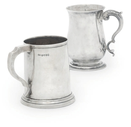 A GEORGE III SILVER MUG OF PLA