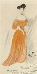 Costume design for the opera V