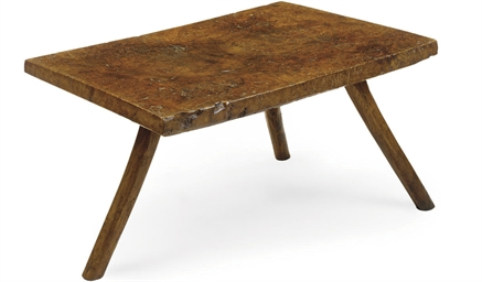 AN ENGLISH BURR ELM TABLE