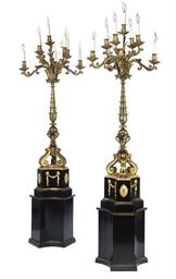 A PAIR OF GILT-BRASS AND GILT-