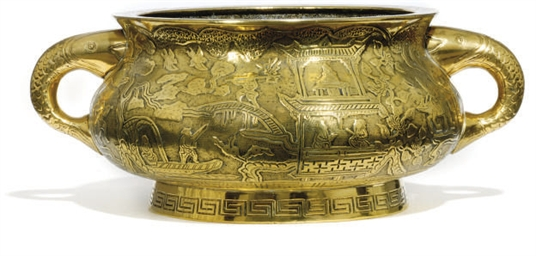 A LARGE CHINESE BRONZE CENSER