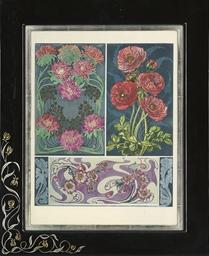 Floral Art Nouveau designs