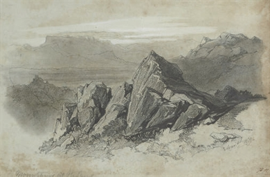 Mountains at Olevano