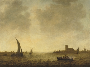 A view of Dordrecht with shipp