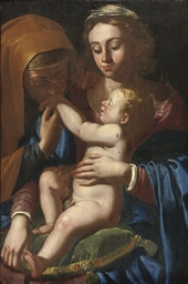 Madonna and Child with Saint E