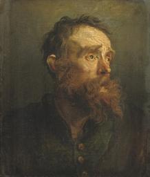 A 'tronie' of a bearded old ma