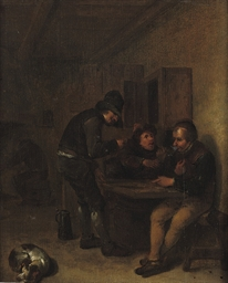 Boors making merry in an inter