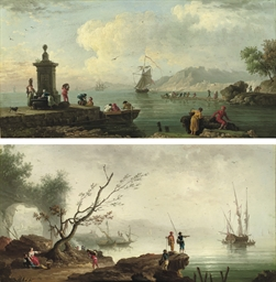 An Italianate coastal landscap