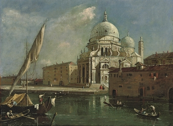Venice with the church of Sant