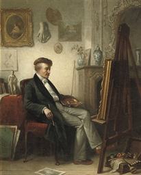An artist in his studio
