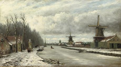 Strolling along a frozen river
