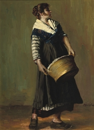 A laundry woman