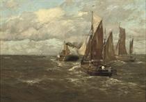 Boats in open water