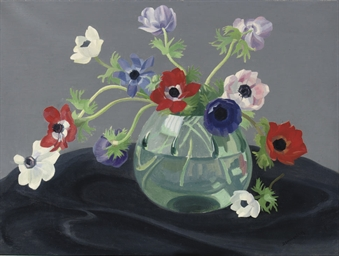 A still life with anemones
