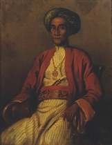 A portrait of Pangeran Sjarif Alkadri