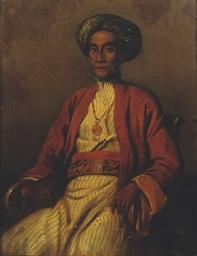 A portrait of Pangeran Sjarif