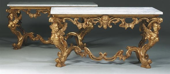 A PAIR OF ITALIAN GILTWOOD SID