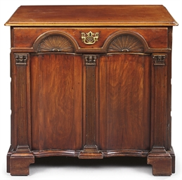 A GEORGE II MAHOGANY ARCHITECT